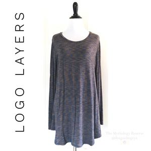 Logo Layers Space Dye Knit Top